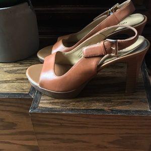 Mossimo Brown High Heel Buckle Shoes